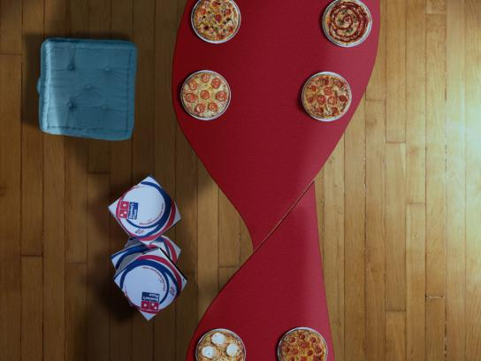 Domino's Pizza Print Ad -  Football evenings