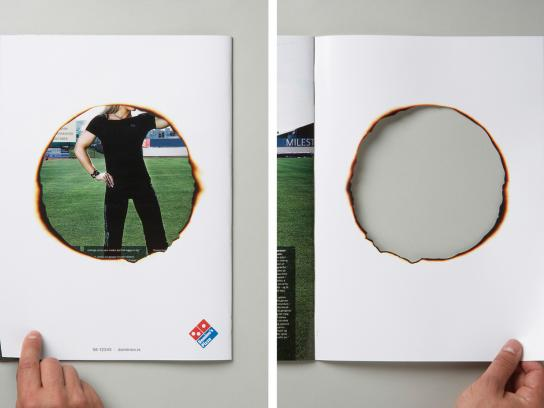 Domino's Pizza Ambient Ad -  Hole