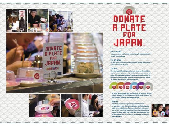 Japan Relief Fund Ambient Ad -  Sushi Train