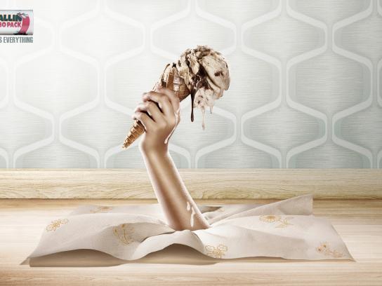 Don Toallin Print Ad -  Ice cream
