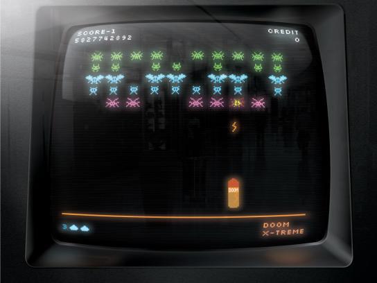 Doom X-treme Print Ad -  Space invaded