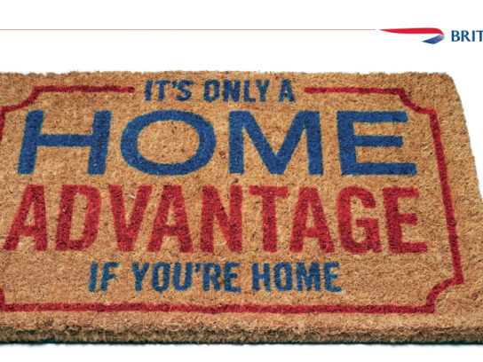 British Airways Print Ad -  Doormat