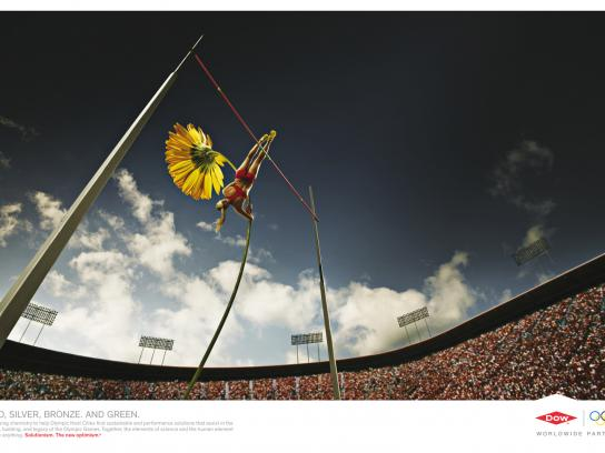 Dow Chemical Company Print Ad -  Pole Vault