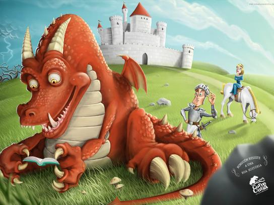 Corre Cutia Print Ad -  Nobody Resists a Good Story, Dragon