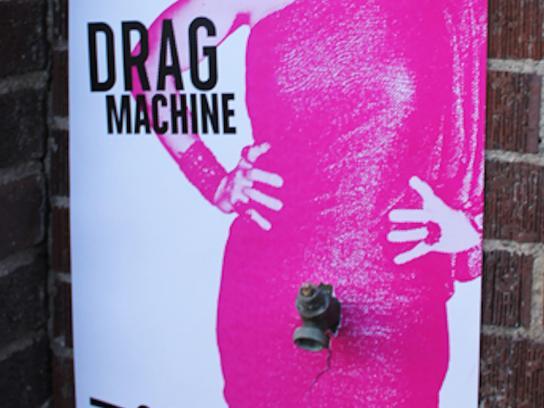 Off-Center Outdoor Ad -  Drag Machine, 3