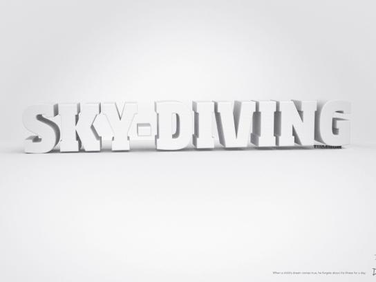 Dreams Print Ad -  Skydiving