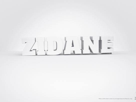 Dreams Print Ad -  Zidane