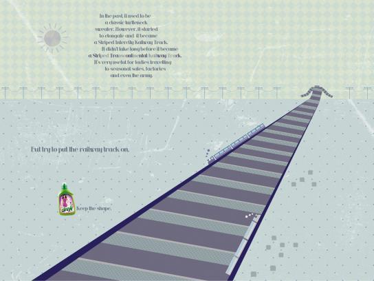 Dreft Print Ad -  Railway track