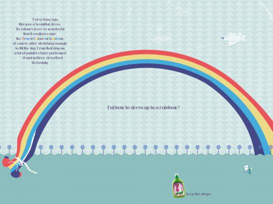 Dreft Print Ad -  Rainbow