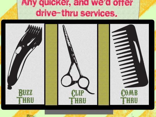 Hair Cuttery Print Ad -  Drive Thru