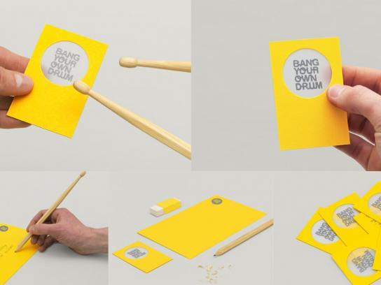 Bang Your Own Drum Direct Ad -  Stationery