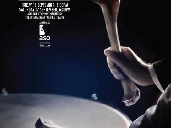 Adelaide Symphony Orchestra Print Ad -  Drummer