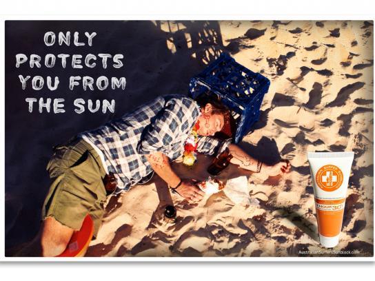 Australian Surfer Sunblock Print Ad -  Punked
