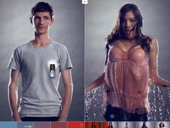Lynx Digital Ad -  Girls Look Hot, Wet. Guy's Don't