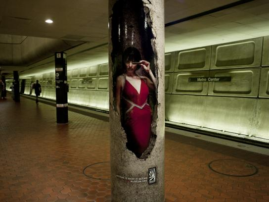 International Spy Museum Outdoor Ad -  Red dress