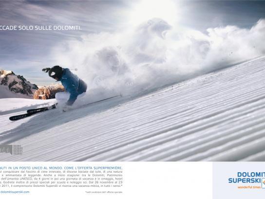 Dolomiti Superski Print Ad -  Panther