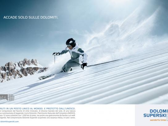 Dolomiti Superski Print Ad -  Winged horse
