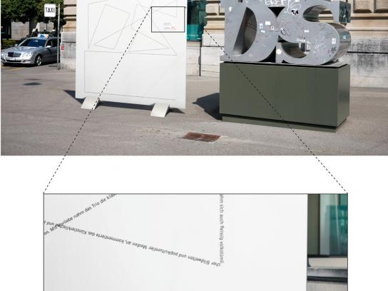 DU Kulturmagazin Outdoor Ad -  Eyetracking of AIDS Sculpture
