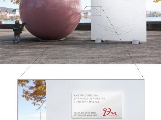 DU Kulturmagazin Outdoor Ad -  Eyetracking of Ganymed's Sister