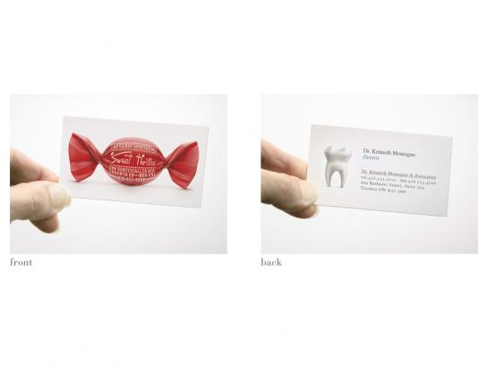 Sweet Thrills Direct Ad -  Dual-Sided Business Card
