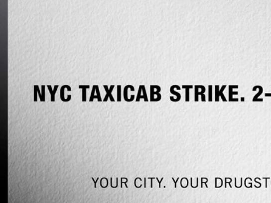 Duane Reade Print Ad -  Taxicab strike