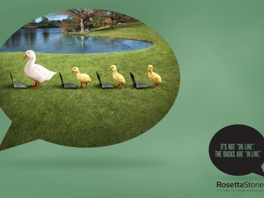 Rosetta Stone Outdoor Ad -  Mistakes, Duck