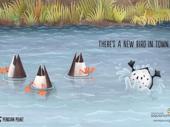 Vancouver Aquarium Print Ad -  Ducks