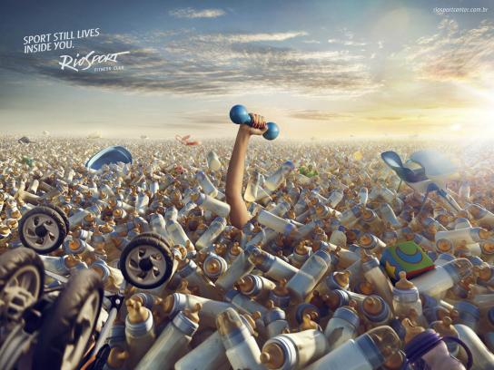 RioSport Print Ad -  Dumbbell