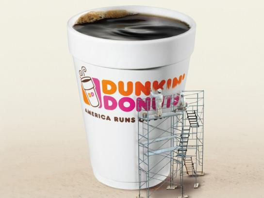 Dunkin' Donuts Print Ad -  Almost there