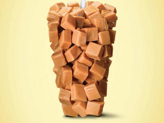 Dunkin' Donuts Print Ad -  Caramel