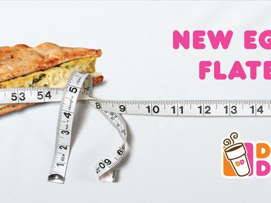 Dunkin' Donuts Print Ad -  Egg White Flatbread Sandwich