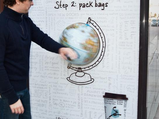 Caribou Coffee Outdoor Ad -  Globe