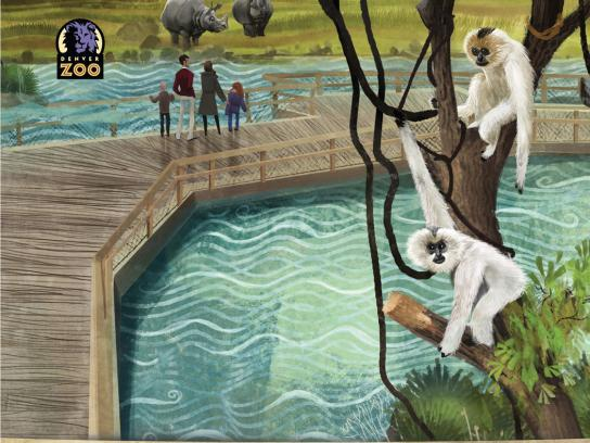 Denver Zoo Outdoor Ad -  Island