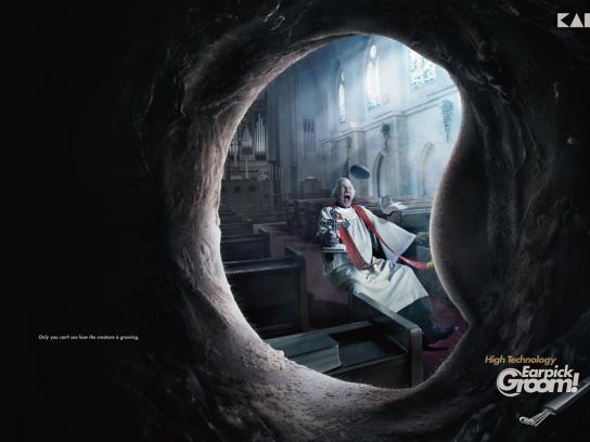 Earpick Groom Print Ad -  Parson