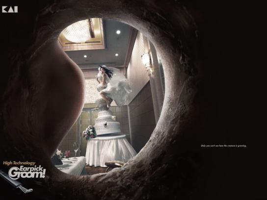 Earpick Groom Print Ad -  Bride