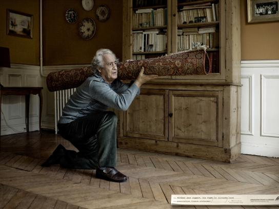 Association France Alzheimer Print Ad -  The fight, Bazooka