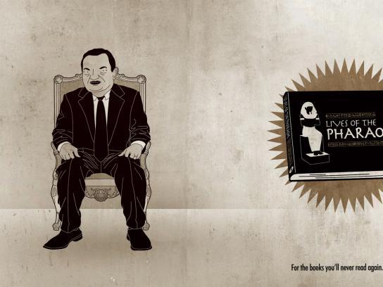 Librairie L'Échange Print Ad -  Lives of the paraohs