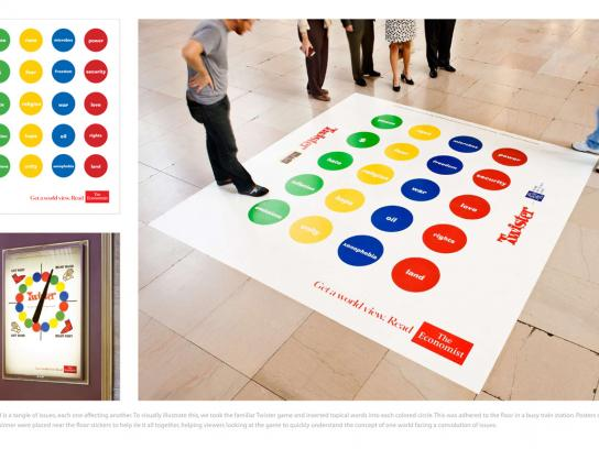 The Economist Ambient Ad -  Get a world view, 3