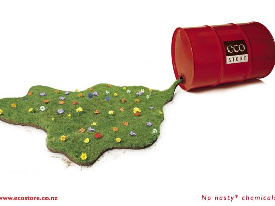 Ecostore Print Ad -  Barrel