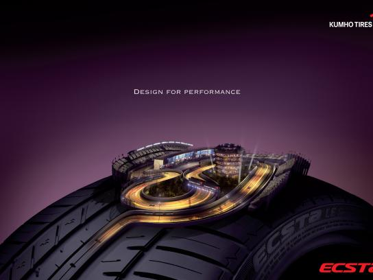 Kumho Tires Print Ad -  Design for performance