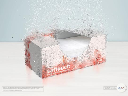 Efferflu C Print Ad -  Tissue Box