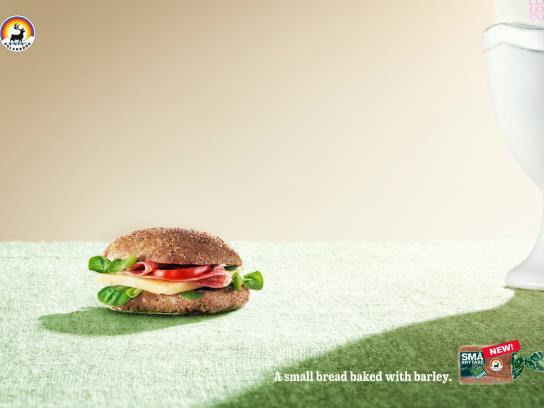 Små brytare Print Ad -  A small bread, Egg cup