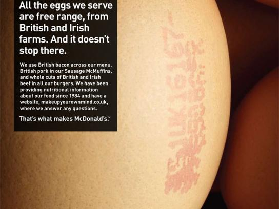 McDonald's Print Ad -  That's what makes McDonald's, Egg