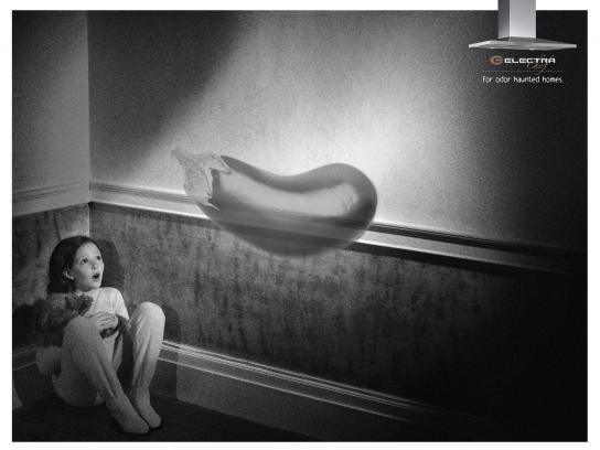 Electra Print Ad -  Haunted homes, Eggplant