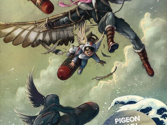 egoFM Print Ad -  Pigeon John