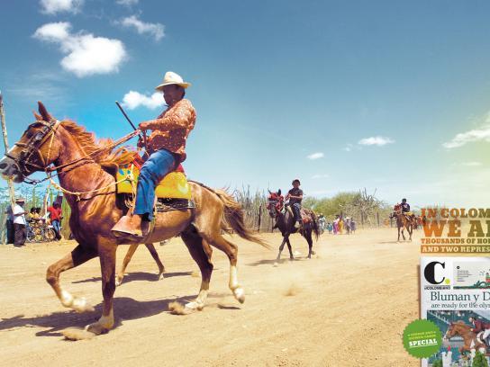 El Colombiano Print Ad -  Horsemen