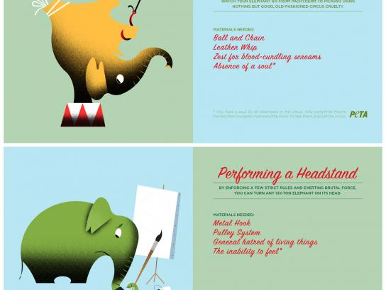 PETA Direct Ad -  How to Train an Elephant