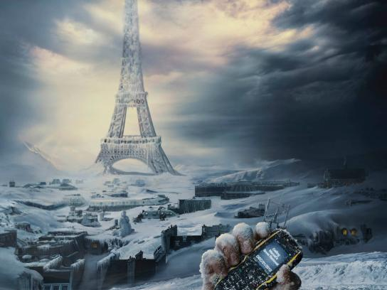 Sonim Print Ad -  End of the World, Snow