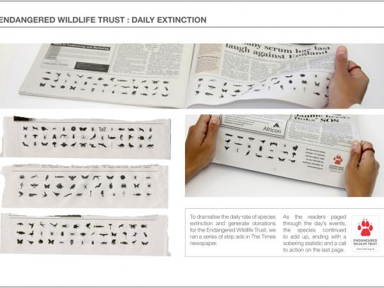 Endangered Wildlife Trust Print Ad -  Daily Extinction
