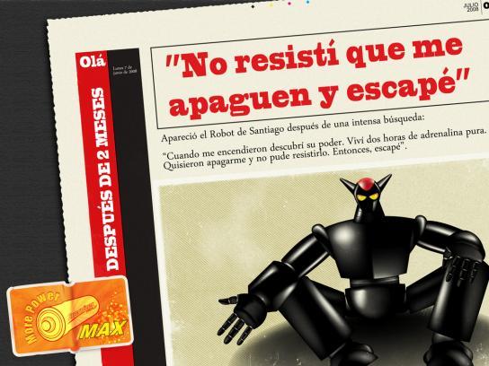 Energizer Print Ad -  Robot